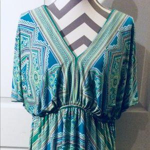 London Times Woman Dress SZ 18W Beautiful Colors
